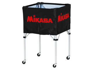 MIKASA/ミカサ 器具 ボールカゴ 箱型・大(フレーム・幕体・キャリーケース3点セット) ブラック BCSPH-BK