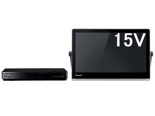 Panasonic/パナソニック UN-15TD8-K(ブラック) ブルーレイディスクプレーヤー/HDDレコーダー付15V型防水テレビ 【ブルーレイ/DVD再生対応、HDDレコーダー500GB内蔵】