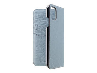 LORNA PASSONI ロルナパッソーニ LORNA PASSONI - German Shrunken Calf Folio Case for iPhone 11 [Light Blue] LPLBLFLIP1961 【正規代理店】 【品質保証ポリシー付きケース】