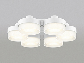 ODELIC WF267PC LEDシーリングファン 灯具 [薄型ガラスタイプ・6灯]【~10畳】