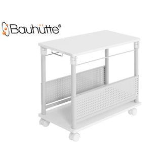 Bauhutte/バウヒュッテ BHD-670H-WH 昇降式L字デスク 【ハイタイプ】 (ホワイト)