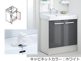 【時間帯指定不可】 LIXIL/リクシル 【INAX】洗面化粧台750mm D7 両開き シングルレバー混合水栓/VP1W D7N3-754/VP1W 【キャビネットカラー:ホワイトになります】