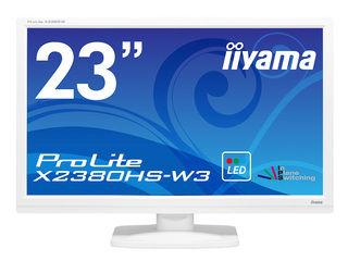iiyama/飯山 23型ワイド液晶ディスプレイ ProLite X2380HS-W3 (IPS) ピュアホワイト X2380HS-W3