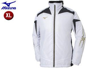 mizuno/ミズノ 32JE8530-01 ブレスサーモ 中綿ウォーマーシャツ 【XL】 (ホワイト×ブラック×ゴールド)