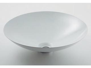 KAKUDAI/カクダイ 493-045-W 丸型洗面器 (ホワイト)