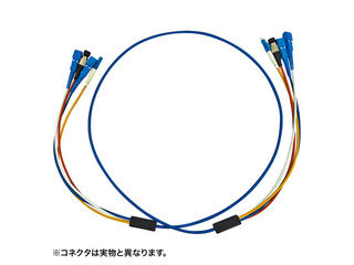 サンワサプライ ロバスト光ファイバケーブル(20m・ブルー) HKB-SCSCRB1-20
