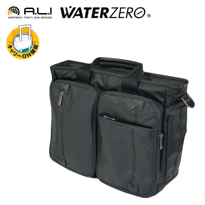 A.L.I/アジア・ラゲージ WTZ-3190-BK WATER ZERO 耐水 2WAY ビジカジブリーフバッグ (ブラック) メンズ ビジネス 撥水 防水 PC パソコン