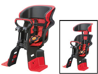 OGK/オージーケー FBC-011DX3 フロント チャイルドシート ヘッドレスト付コンフォート (ブラック/レッド)