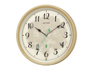 RHYTHM/リズム時計 8MN409SR06 日本野鳥の会 四季の野鳥 報時掛時計