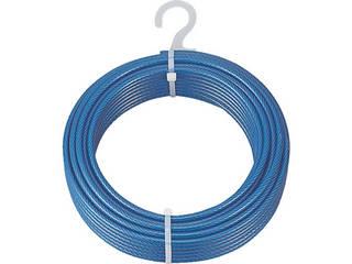 TRUSCO/トラスコ中山 メッキ付ワイヤーロープ PVC被覆タイプ Φ9(11)mm×50m CWP-9S50