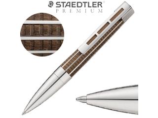 STAEDTLER PREMIUM/ステッドラープレミアム ボールペン/天然木&メタル■ツイスト式【ブラック/M/中字】■プリンセプス(9PT320M-9)