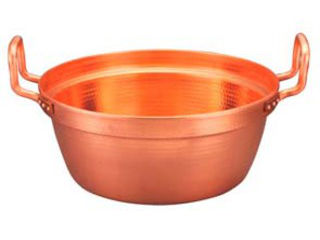 MARUSHIN/丸新銅器 銅 段付鍋 錫引きなし 39cm