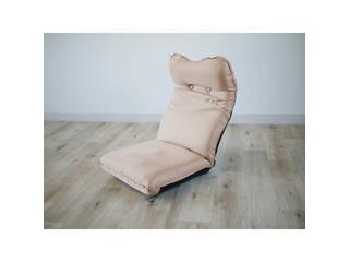 ズレ落ち防止加工折りたたみ座椅子 ベージュ  TT-05BE