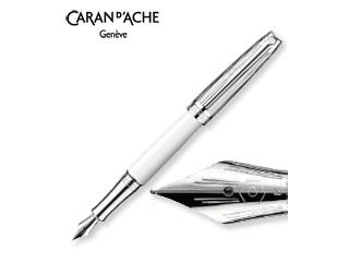 CARAN dACHE/カランダッシュ 【Leman/レマン】バイカラー ホワイト 万年筆 F 4799-991