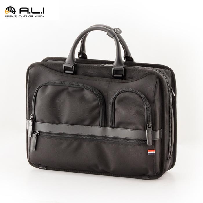 A.L.I/アジア・ラゲージ AJM-3420 Business Trip メンズ 自立 ビジネスブリーフバッグ (ブラック)
