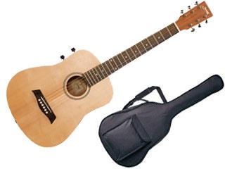 S.Yairi/S.ヤイリ ミニエレアコギター YM-02E/NTL(ナチュラル) 【ソフトケース付き】【YM02】 【ミニギター】【フォークギター】【小さめ/子ども用】【YAIRIGT】