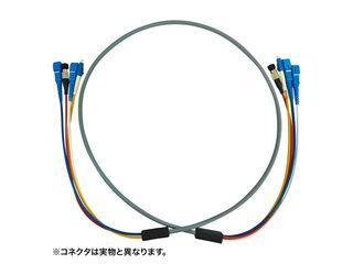 サンワサプライ 防水ロバスト光ファイバケーブル(10m・グレー) HKB-SCSCWPRB5-10