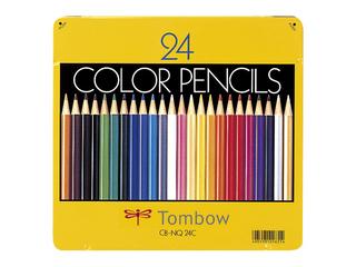 Tombow/トンボ鉛筆 缶入色鉛筆 24色 NQ CB-NQ24C