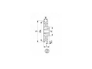 【組立・輸送等の都合で納期に4週間以上かかります】 EVER-ON/エバオン 【代引不可】ブッシングプーリー SPB 315mm 溝数1 SPB315-1