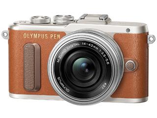 OLYMPUS/オリンパス PEN E-PL8 14-42mm EZレンズキット(ブラウン)