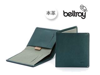 Bellroy/ベルロイ Note Sleeve/ノートスリーブウォレット TEL 【ティール:Teal】 ※天然のレザーを使用しておりますので、多少のシワなどがある場合がございます。予めご了承ください。 財布 スリム 二つ折り 名刺 カード 小銭 お札 プレゼント ギフト