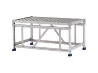 【組立・輸送等の都合で納期に1週間以上かかります】 ALINCO/アルインコ 【代引不可】作業台(天板縞板タイプ)1段 天板寸法800×600mm 高0.5m CSBC158WS