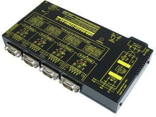 システムサコム工業 USB(COMポート)⇔4ポートRS422変換ユニット絶縁タイプ USB-RS422I-COM4-AC