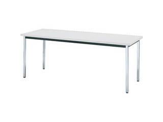 TRUSCO/トラスコ中山 【代引不可】会議用テーブル 1500×900×H700 角脚 下棚無 ホワイト TD-1590-W