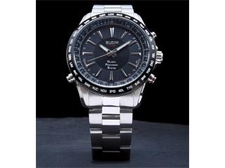 最高の品質の ELGIN /エルジン GPS20000S-B 【ブラック×シルバー】 GPS衛星電波腕時計, 大黒屋質店 9f8c05db