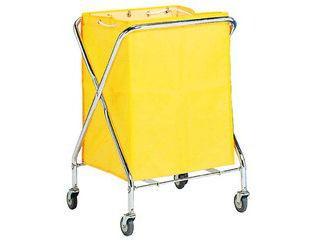 【代引不可】BM ダストカー 袋付(折りたたみ式)大 黄 236L