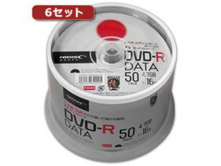 HIDISC/ハイディスク 【6セット】HI DISC DVD-R(データ用)高品質 50枚入 TYDR47JNP50SPMGX6