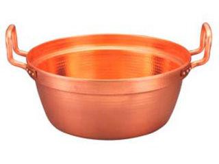 MARUSHIN/丸新銅器 銅 段付鍋 錫引きなし 54cm