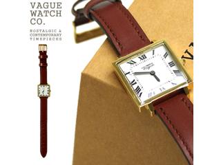 VAGUE WATCH CO./ヴァーグウォッチ ゴールドスクエアレザーベルト 0527 CR-S-002