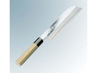 兼松作 鏡面仕上 鎌型薄刃庖丁 21cm