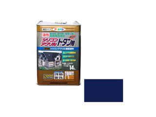 ASAHIPEN/アサヒペン 油性シリコンアクリルトタン用 14L なす紺