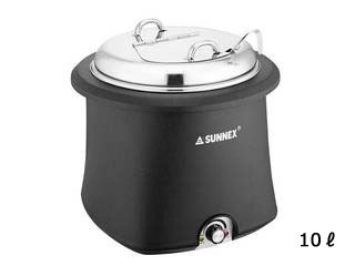サンネックス SX 電気式スープウォーマー E07-1001 ステンレス蓋仕様 10L