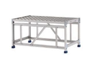ALINCO/アルインコ 【代引不可】作業台(天板縞板タイプ)1段 天板寸法1000×600mm高0.5m CSBC151WS