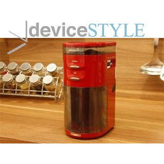 【nightsale】 【在庫処分!】【未使用・商品新品・外箱不良(汚れ)品】 deviceSTYLE デバイスタイル GA-1X-R 電動コーヒーミル コーヒーグラインダー (R)
