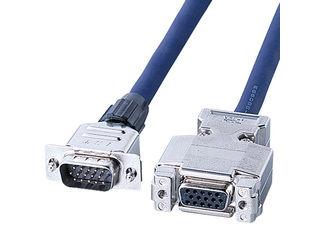 サンワサプライ ディスプレイ延長ケーブル(複合同軸・アナログRGB・6m) KB-CHD156FN