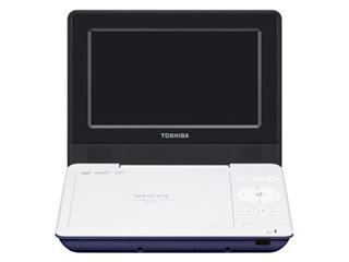 TOSHIBA/東芝 SD-P710S-L(ブルー) ポータブルDVDプレーヤー REGZA/レグザ