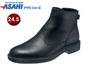 ASAHI/アサヒシューズ AM33181-1 通勤快足 ゴアテックス メンズ ビジネスシューズ ブーツ 【24.5cm・4E】 (ブラック)