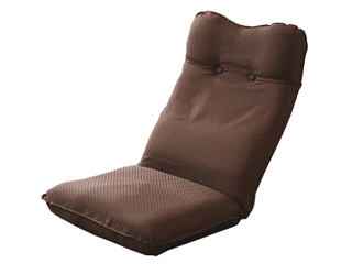 ズレ落ち防止加工折りたたみ座椅子2個組 ブラウン TT-05BR-2