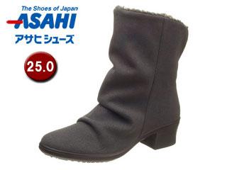 ASAHI/アサヒシューズ AF38917-AA TDY38-91A トップドライ 女性用ミドルブーツ 【25.0cm・3E】(グレースエード)