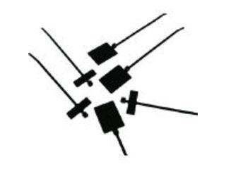 Panduit/パンドウイットコーポレーション 旗型タイプナイロン結束バンド 耐候性黒 (500本入) PLM4S-D0