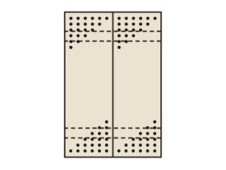 SAKAE/サカエ 【代引不可】パンチングウォールシステム PO-302LN