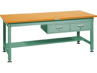 正式的 【】SHW型作業台 SHW-1809FL2 緑 2列引出付 GN:ムラウチ TRUSCO/トラスコ中山 【組立・輸送等の都合で納期に1週間以上かかります】 1800X900XH740-DIY・工具
