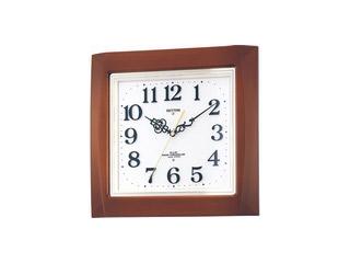 RHYTHM/リズム時計 【メーカー在庫限り】4MN468RH06 【ネムリーナM468R】 電波掛時計 正時メロディ付/サイレントステップ秒針 【RPS160324】