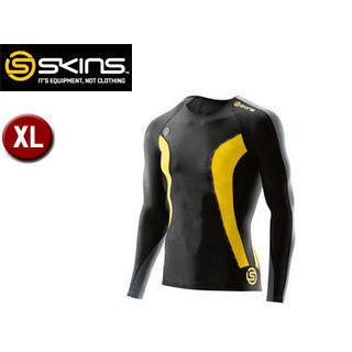 SKINS/スキンズ DK9905005-BKCR DNAMIC メンズ ロングスリーブトップ 【XL】 (ブラック×シトロン)
