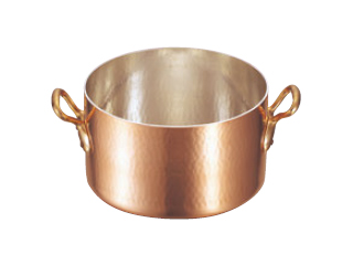 MAUVIEL/ムヴィエール 銅 半寸胴鍋(蓋無)2151-36 36