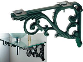 KAKUDAI/カクダイ ブラケット/鋳鉄、緑色塗装 250-005-G